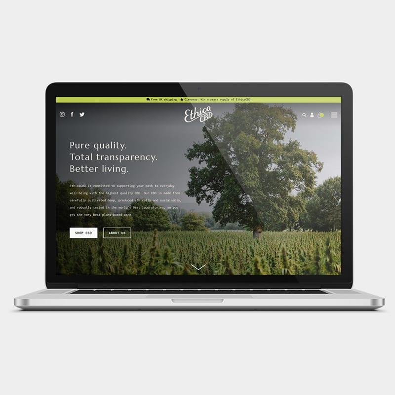 EthicaCBD Website 1