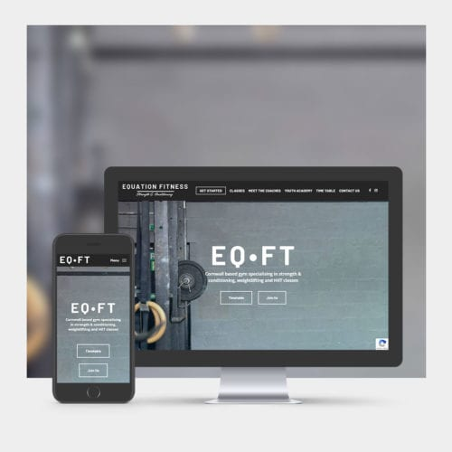Fitness Training Website Design example on mobile and computer.