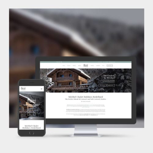 Ski Chalet Website Design example on mobile and computer.