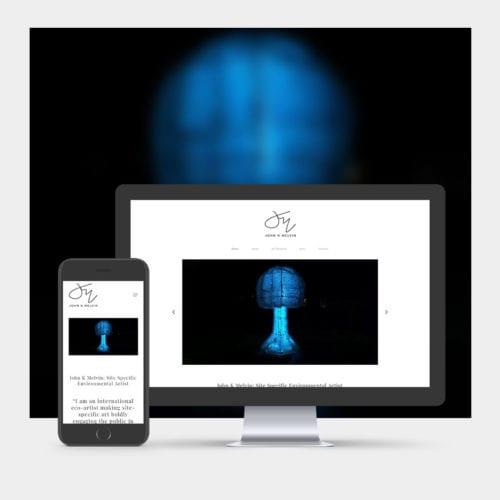 Artist Website Design example on mobile and computer - J K Melvin
