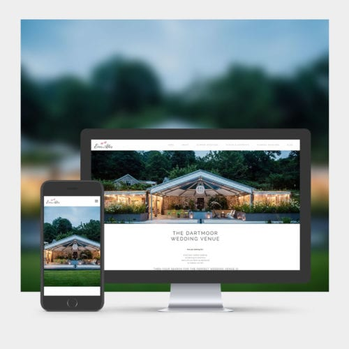 Wedding Venue Website Design example on mobile and computer.