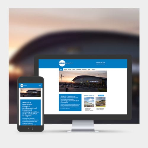 Property Development & Investment Website Design example on mobile and computer.