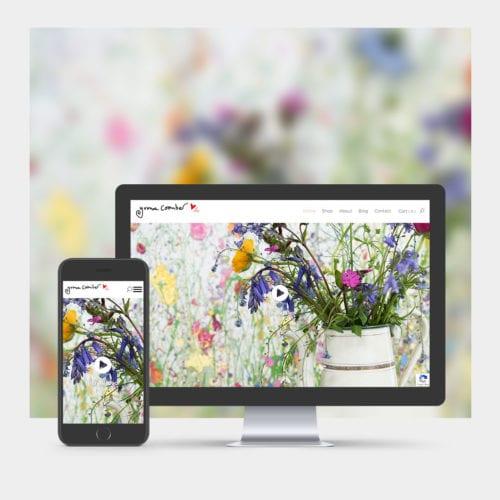 Artist Portfolio & E-commerce Website Design example on mobile and computer.