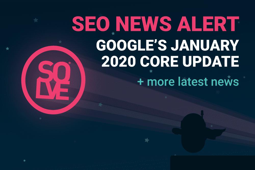 January 2020 SEO News Alert Banner