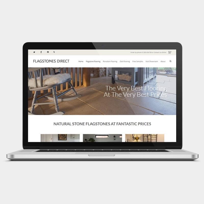 Flagstones Direct on a desktop