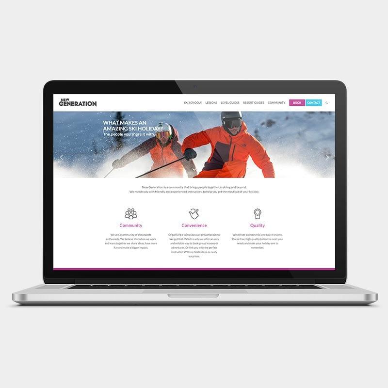 ski new generation laptop example by solve web media