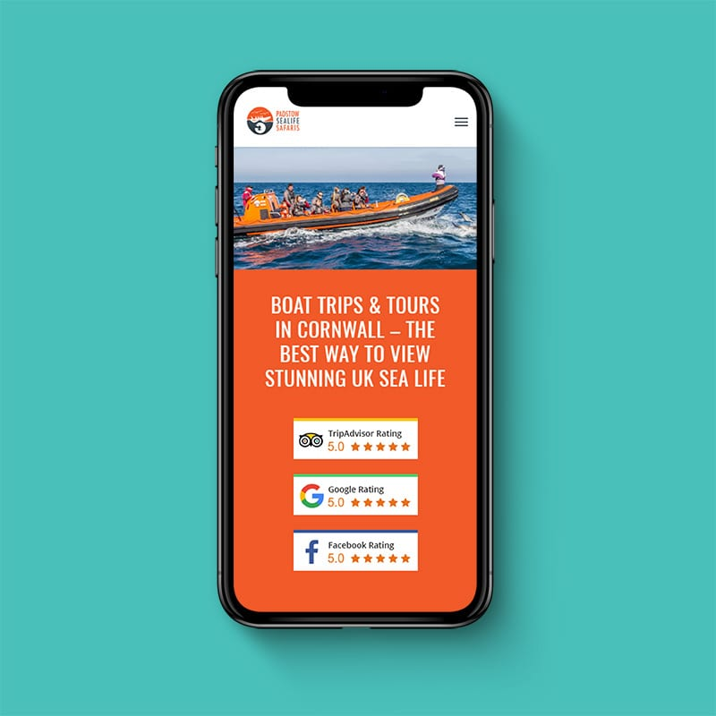 padstow sea life safari mobile example by solve web media