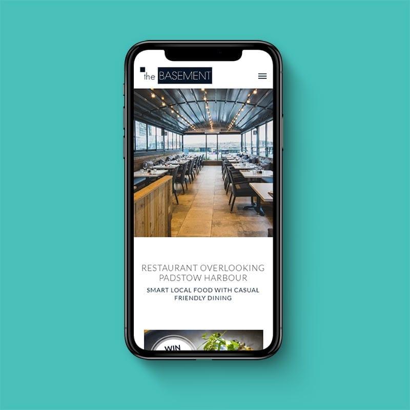 The Basement mobile friendly website