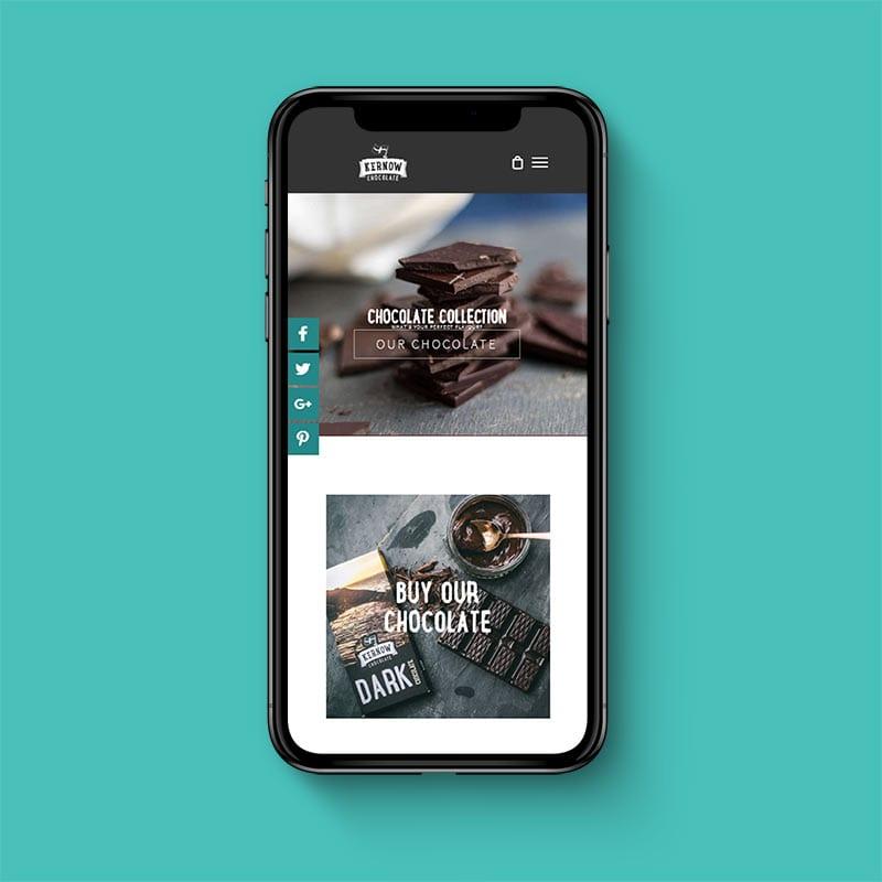 Kernow chocolate phone example by solve web media