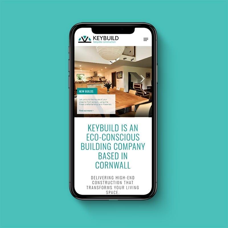 Keybuild bespoke construction mobile friendly website