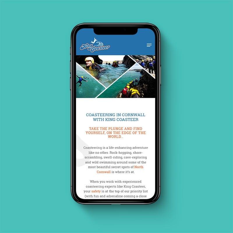 King Coasteer mobile friendly website