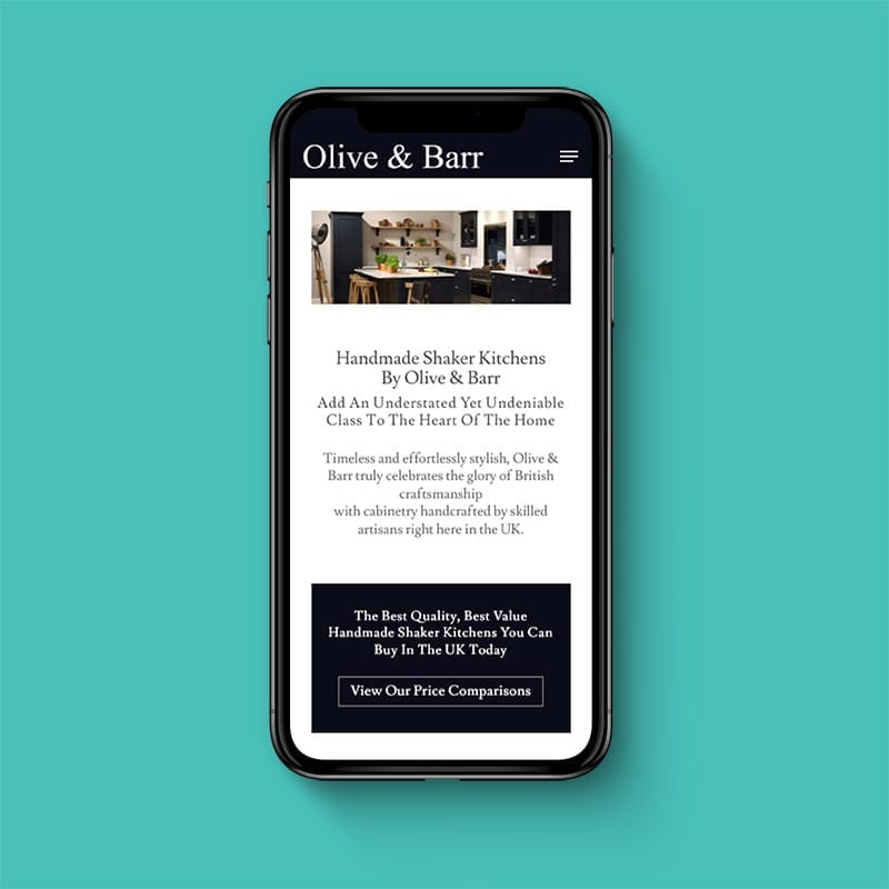 Olive and barr mobile friendly website