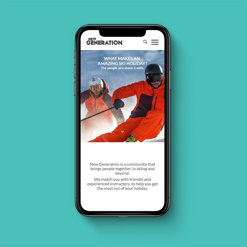 ski new generation phone example by solve web media