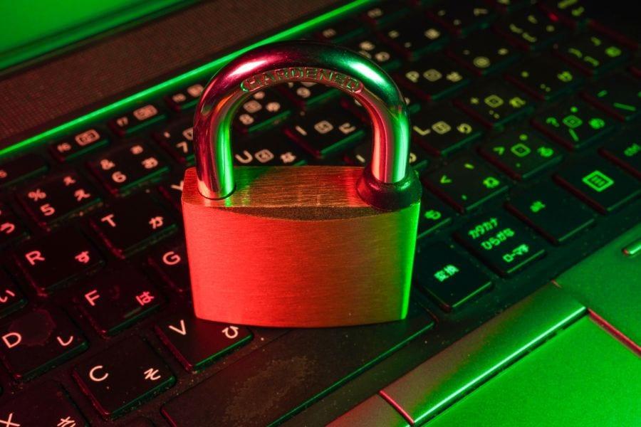 padlock sitting on laptop keyboard to demonstrate ssl certificate