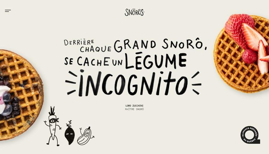Les Snoros website screenshot