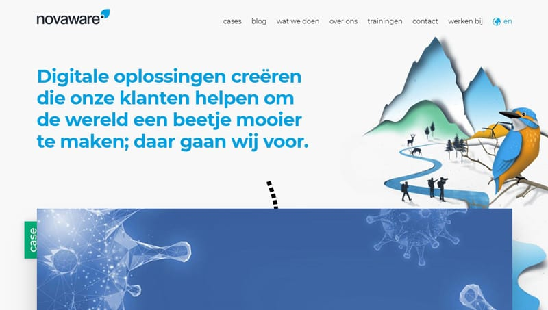 Novaware website screenshot