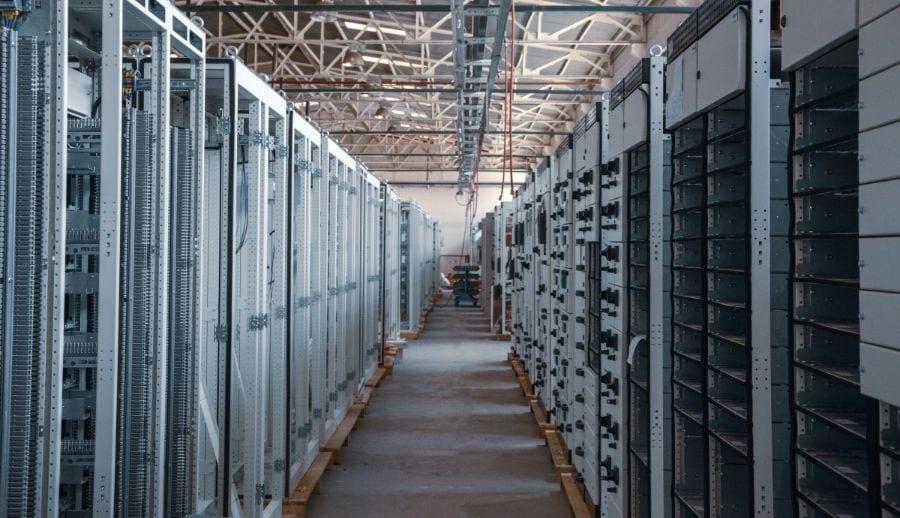 inside a building full of website servers
